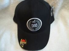 Dad #1, Black, Polyester Ball Cap