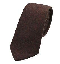 Genuine Rustic Brown Wool Tweed Tie - Made in the UK (U120/16)