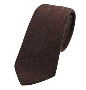 Men's Genuine Rustic Brown Wool Tweed Tie - Made in the UK (U120/16)