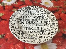 Emma Bridgewater Black Toast Cake Profiterole  6.5  Plate Best New Discontinued