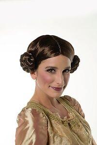 Halloween Princess Leia Organa Inspired Wig Brown Cosplay Wig H0290