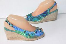 DESIGUAL Sandali Con Zeppa Tela Stampata Colorata T 36 OTTIMA QUALITÀ 9d383462f92