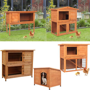 "36"" 40"" 48"" Wooden Small Animal House House Rabbit Hutch Chicken Coop Dog House"
