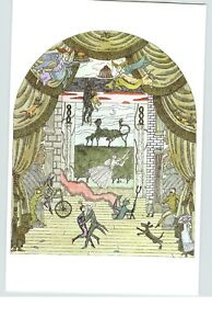 "EDWARD GOREY Untitled Drawing Stage Scene 10""x 15"" Wall Art Poster Book Page"