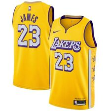 Nuevo 2020 Nike Los Angeles Lakers Lebron James City Edición Swingman Jersey
