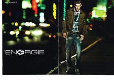 PUBLICITE ADVERTISING 094  2010  ENERGIE   pret ) porter  mode homme ( 2 pag