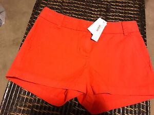 Women's J Crew 61456 Coral Shorts Size 2 (CON71)