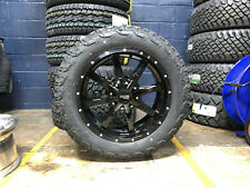 "20x9 Moto Metal Mo970 Black Wheels Rims 32"" At Tires 6x5.5 Chevy Suburban Tahoe"