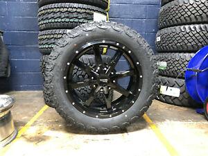 "20x9 Moto Metal MO970 Black Wheels Rims 32"" AT Tires 6x135 Ford F150 Expedition"
