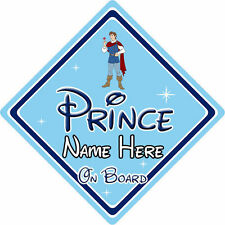 Personalised Disney Prince On Board Car Sign – Snow White Prince Ferdinand