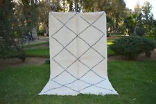 Moroccan rug Beni Ourain 8'6x5'3, rug handmade 100% wool rug area rugs azilal