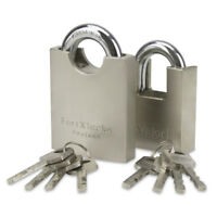 HEAVY DUTY PROTECTED SHACKLE CONTAINER PADLOCK 50MM/60MM **** KEYED ALIKE ****