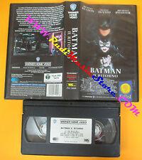 VHS film BATMAN IL RITORNO Keaton De vito Pfeiffer WARNER GLI SCUDI (F63) no dvd
