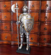 """Tedesca Cavaliere In Armatura Completa Figura con alabarda FIGURINA 13"""" High Statua Nuovo"""