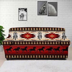 Aztec Horse Couch Slipcover Stretch Protect Sofa Covers Cushion Couch Seat Decor
