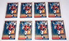 John Elway Topps 1992 Lot Of 8 Football Card #125 Denver Broncos Quarterback A7