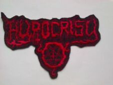 HYPOCRISY,IRON ON RED EMBROIDERED PATCH