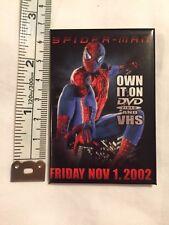 Spiderman Pinback Button 2002 Movie Original Marvel DVD VHS