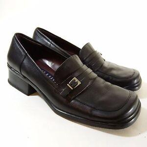 Hillard & Hanson Loafers Women Size 6 Black Leather