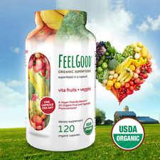 Feel Good Vita Fruits And Veggies, 120 Organic Superfood Multi-Vitamin Capsules
