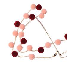 Pompon Ball Glasses Chain Metal Autumn Winter Eyewear Sunglasses Reading Eyeglas