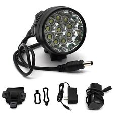 FARO 10x LED MTB 20000 LUMEN BICI FANALE CREE XML U2 BICICLETTA BICYCLE LIGHT T6