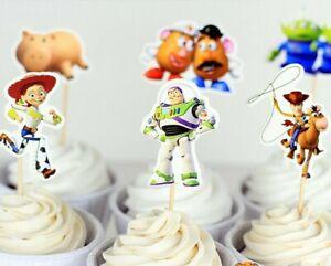 24 Pcs TOY STORY CUPCAKE CAKE TOPPER KIDS PARTY DECORATION AU