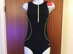 Speedo Ladies Hydrasuit 1-piece swimsuit BNWT size 14/36 black RRP £38