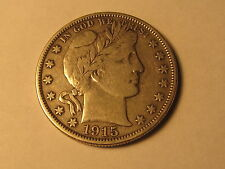 1915 D Barber Half Dollar in VF+ Very Fine+ Condition
