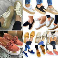 Women's Wedges Platform Pumps Loafers Espadrilles Moccasins Casual Slip On Shoes