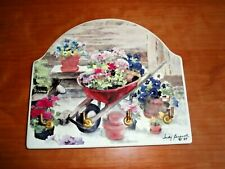 Judy Buswell Floral Ceramic Wall Mounted Key Holder w/4 Hooks