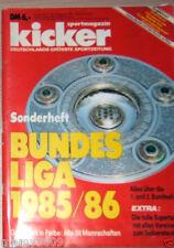 KICKER=SPECIALE BUNDESLIGA 1985/86=OTTIMO STATO