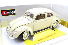 Bburago 1955 Volkswagen Kafer Escarabajo Beige 1/18 Coche de Metal