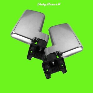 Chrome Side Large Manual Mirrors Right Left for Toyota Landcruiser 60 Series