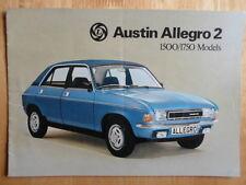 AUSTIN Allegro 2 1500 & 1750 Saloon brochure 1977 - 3162/C