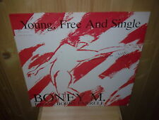 """BONEY M young, free and single  12"""" MAXI 45 T"""