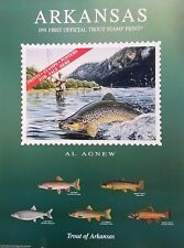 1991 Arkansas Trout Sales Poster featuring first official Trout Stamp Print