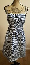 Polo Ralph Lauren Womens Blue White Striped Dress Cotton Lined Cruise Sz 0 SALE!