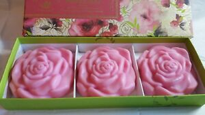 French Rose de Mai Soaps 3 e.a,   nice for  Mother's Day Gift Box
