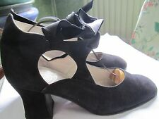 Zapatos De Diseñador Italiano, Suela de Cuero () De Cuero/Gamuza Talla 36.5 Dance