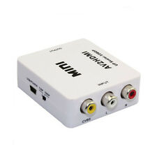 Mini AV To HDMI Converter Composite RCA CVBS For HDTV DVD Sky PS3 Xbox Wii 1080P