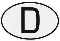 Zehn 10 Stück Deutschland D-Schild D Aufkleber Sticker 7 x 5 cm FasCal Folie