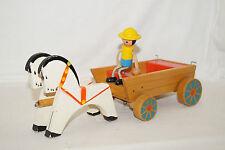 Holzspielzeug Pferde Kutsche Gespann Fuhrwerk