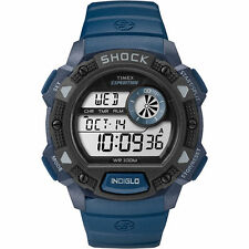 "Timex TW4B07400, Men's ""Expedition"" Blue Resin Watch, Shock Resistant, Indiglo,"