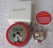 Avon Collectible Disney Licensed Mickey Mouse Pocket Watch Tin Original Box all
