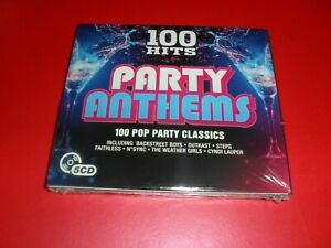 100 HITS PARTY ANTHEMS 100 POP PARTY CLASSICS NEW SEALED.