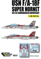 DXM decal 1/48 USN F/A-18F Super Hornet VFA-102 Diamondbacks