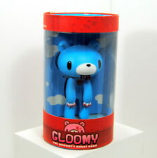 """Kidrobot 5"""" Gloomy Naughty Adult Bear Blue Bloody Mouth Paws Limited Edition"""