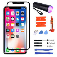 For iPhone XR Replacement Front Outer Touch Screen Glass Lens Repair Tools Kit