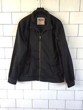 Para Hombre Urbano Vintage Retro Negro Levi's Bomber Jacket Coat Talla XL #27